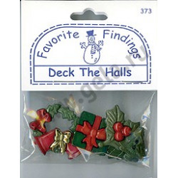 DECK THE HALLS, пуговицы 12-33мм 6шт., Favorite Findings