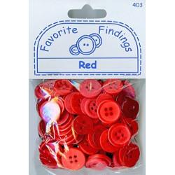 "RED, ""Рубашечный микс"", пуговицы 12-15мм 130шт., Favorite Findings"