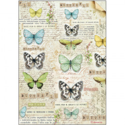 Бабочка, бумага рисовая для декупажа 21х29,7см 28г/м? Stamperia