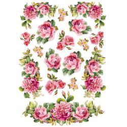 Розы и гирлянды, бумага рисовая для декупажа 21х29,7см 28г/м? Stamperia