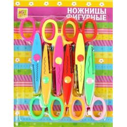 Ножницы фигурные, набор 6шт АУ
