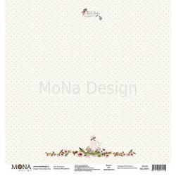 На полянке из коллекции Моя девочка, лист односторонней бумаги 30х30см, 190гр/м MoNa design
