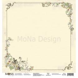 Мой цветочек из коллекции Моя девочка, лист односторонней бумаги 30х30см, 190гр/м MoNa design