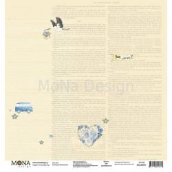 Аист из коллекции Мой мальчик, лист односторонней бумаги 30х30см, 190гр/м MoNa design