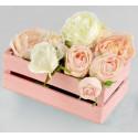 Ящик реечный, нежно-розовый 24,5х13,5х9см SL