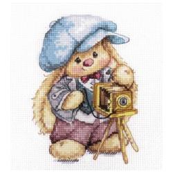 Зака Ми Фотограф, набор для вышивания крестиком, 10х13см, 25цветов Алиса