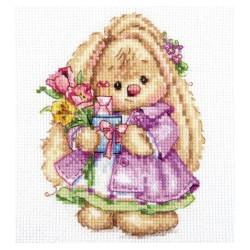 Зака Ми Весна, набор для вышивания крестиком, 10х13см, 29цветов Алиса