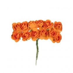 """Оранжевое настроение(оранжевый), декоративные элементы """"Цветы"""", диаметр цветка 2,3см, 12шт,  Mr.Pain"""