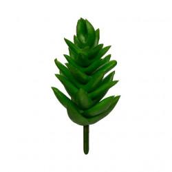 Суккулент, декоративный элемент для флористики, пвх 9х3,5см 1шт