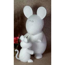 Мышка, пенопластовая заготовка 16х8,5х8,5см