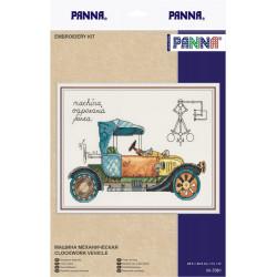 Машина механическая, набор для вышивания крестиком, 28,5х20,5см, 27цветов Panna