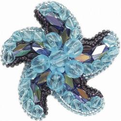 Звезда морей, набор для изготовления броши из бусин и бисера, 7х7см ЧМ