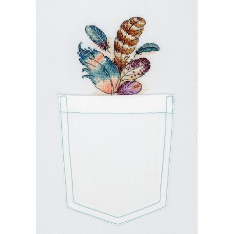 Воздушный букет, набор для вышивания крестиком на одежде 9х9см, 13цветов Жар-птица