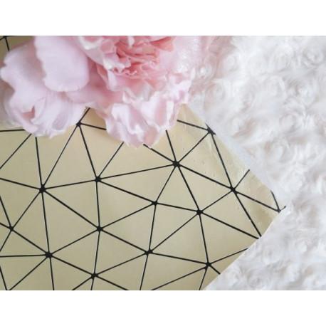 Светло-золотой геометрия, кожа искусственная 33х69(±1см) плотность 440 г/кв.м.