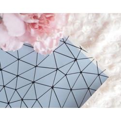 Голубой геометрия, кожа искусственная 33х69(±1см) плотность 440 г/кв.м.