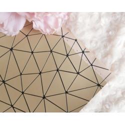 Золотой геометрия, кожа искусственная 33х69(±1см) плотность 440 г/кв.м.