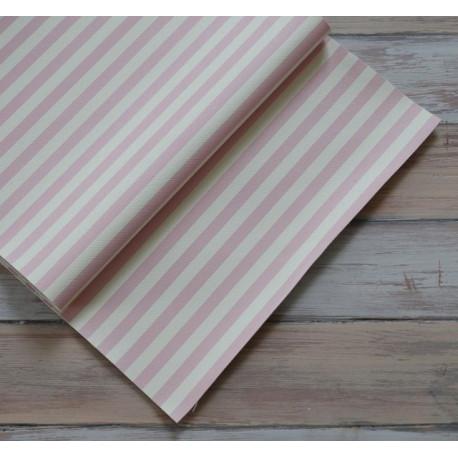 Светло-розовый в полоску, кожа искусственная 33х69(±1см) плотность 440 г/кв.м.