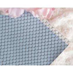 Голубой дракон, кожа искусственная 33х69(±1см) плотность 440 г/кв.м.