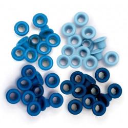 Голубой, набор люверсов стандарт внутр.d5мм внеш.d8мм 60шт We R Memory Keepers