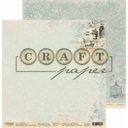 Из прошлого, коллекция Ретро бумага для скрапбукинга двусторонняя 30,5x30,5см 190г/м CraftPaper