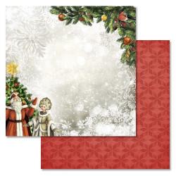 У праздничной елки, коллекция Новогодний лес, бумага для скрапбукинга 30,5x30,5см 180г/м ScrapMania