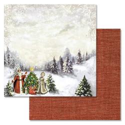 Сверкающая зима, коллекция Новогодний лес, бумага для скрапбукинга 30,5x30,5см 180г/м ScrapMania