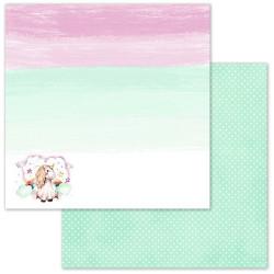 Хранитель радуги, коллекция Розовые грезы, бумага для скрапбукинга 30,5x30,5см 180г/м ScrapMania