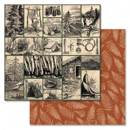 Лучшие кадры, коллекция Дневник туриста, бумага для скрапбукинга 30,5x30,5см 180г/м ScrapMania