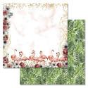 Тропики, коллекция Роскошный фламинго, бумага для скрапбукинга 30,5x30,5см 180г/м ScrapMania