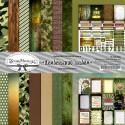 Дембельский альбом, набор бумаги для скрапбукинга 30,5х30,5см 9 двусторонних листов ScrapMania