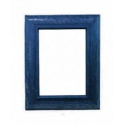 Синий, рамка деревянная с оргстеклом 18х24см