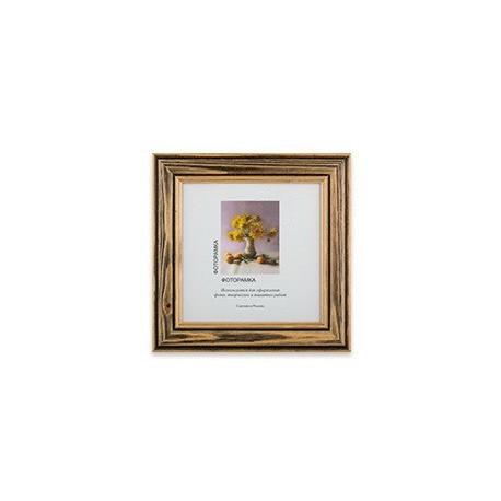 Коричневый, рамка деревянная с оргстеклом 15х15см