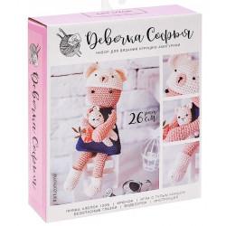 Девочка Софья, набор для вязания игрушки амигуруми 26см АртУзор