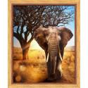 Африканский, набор для изготовления картины стразами 40х50см 24цв. полная выкладка АЖ
