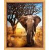 Африканский, набор для изготовления картины стразами 40х50см 24цв. полная выкладка, АЖ