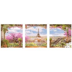 Париж, раскраска по номерам на холсте Триптих 50х50см - 3шт, 32цв Планета Картин