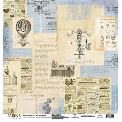 Технологии времен из коллекции Путешествие во времени, лист односторонней бумаги 30х30см, 190гр/м Mo