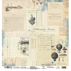Назад в будущее из коллекции Путешествие во времени, лист односторонней бумаги 30х30см, 190гр/м MoNa