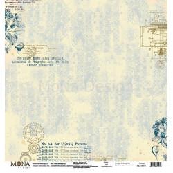 Гармония природы из коллекции Путешествие во времени, лист односторонней бумаги 30х30см, 190гр/м MoN