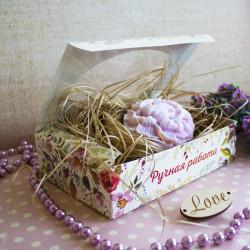 Полевые цветы, коробка горизонтальная с окошком 15,5х11х4см