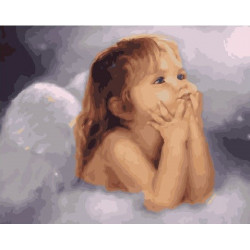 Ангелочек, раскраска по номерам на холсте 40х50см 27цв Планета Картин
