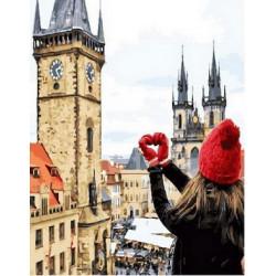 Любимая Прага, раскраска по номерам на холсте 40х50см 27цв Планета Картин