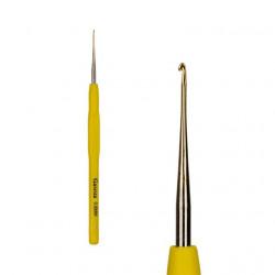 Крючок для вязания стальной с прорезиненной ручкой d0.8мм 13см, GAMMA