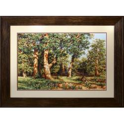 Дубовая роща, набор для вышивания крестиком, 71х45см, 34цвета, Aida18 Luca-S