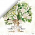 Родовое Дерево из коллекции Family Tree, лист двусторонней бумаги 30х30см, 190гр/м Scrapmir