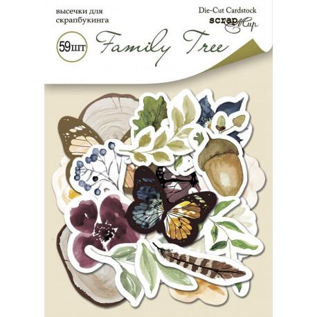 Family Tree, набор высечек для скрапбукинга 59шт. Scrapmir