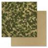 Милитари, коллекция Дембельский альбом, бумага для скрапбукинга 30,5x30,5см 180г/м ScrapMania