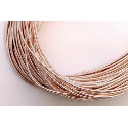 Золото розовое, канитель жёсткая 1,2мм 4,5-5гр