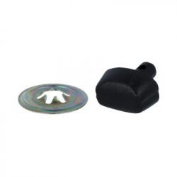 Черный, нос пластиковый, с шайбой 20мм 1шт. HobbyBe