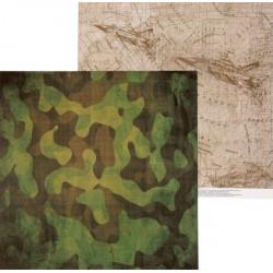 Military, двусторонняя бумага для скрапбукинга 30,5*30,5см 180г/м АртУзор